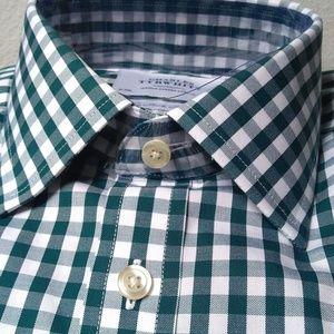 NEW Charles Tyrwhitt Dress Shirt 15/33 Green White